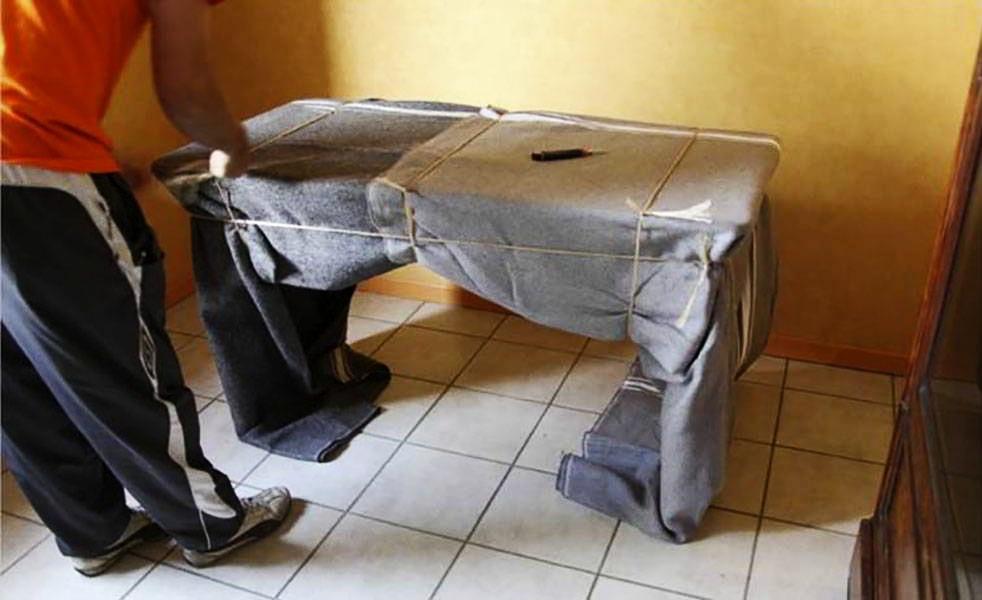 un bon emballage pour préserver votre mobilier
